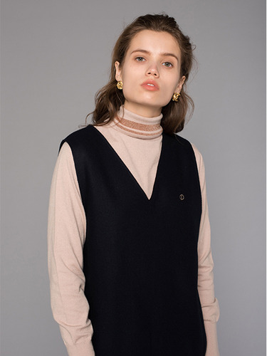 GLITTER POLO NECK KNIT