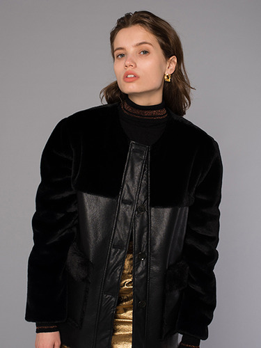 [DIAGONAL X AWESOMENEEDS] FUR MUSTANG HALF COAT