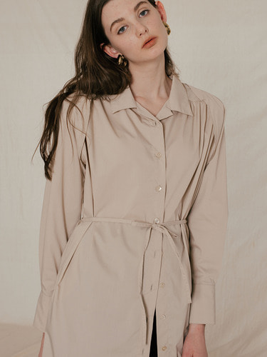 SHOULDER PAD SHIRTS DRESS