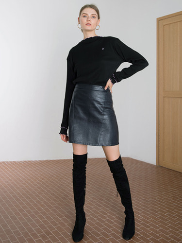 [EXCLUSIVE 10/12일 순차배송] LEATHER MINI SKIRT