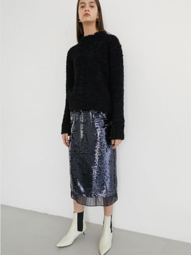 [EXCLUSIVE] SPANGLE CHIFFON SKIRT