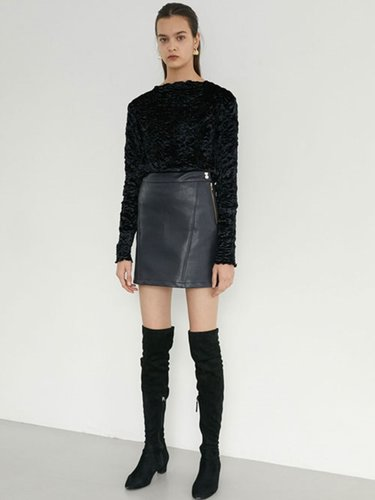 [EXCLUSIVE] LEATHER MINI SKIRT